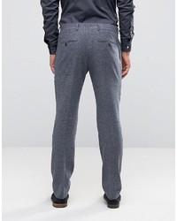 Pantalón de vestir de lana en gris oscuro de Selected