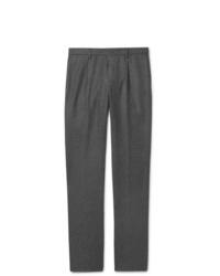 Pantalón de vestir de lana en gris oscuro de Loro Piana