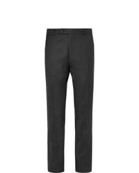 Pantalón de vestir de lana en gris oscuro de Mr P.