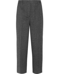 Pantalón de vestir de lana en gris oscuro de Prada