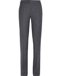 Pantalón de vestir de lana en gris oscuro de Richard James