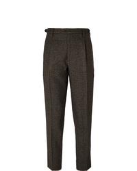 Pantalón de vestir de lana en marrón oscuro de Barena