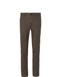 Pantalón de vestir de lana en marrón oscuro de Bellerose