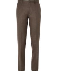 Pantalón de vestir de lana en marrón oscuro de J.Crew