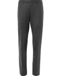 Pantalón de Vestir de Lana Gris Oscuro de Canali