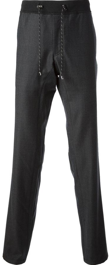 Pantalón de Vestir de Lana Gris Oscuro de Emporio Armani