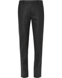 Pantalón de Vestir de Lana Gris Oscuro de Maison Margiela