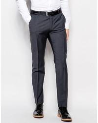 Pantalón de Vestir de Lana Gris Oscuro de Selected