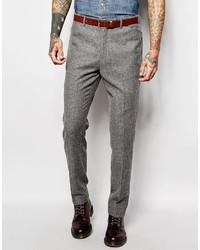 Pantalón de vestir de lana gris de Asos