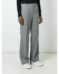 Pantalón de Vestir de Lana Gris de Calvin Klein Collection