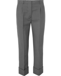 Pantalón de vestir de lana gris de Prada