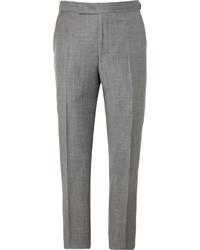 Pantalón de Vestir de Lana Gris de Richard James