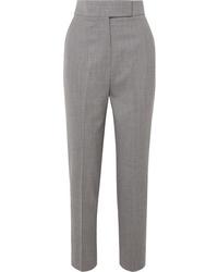Pantalón de vestir de lana gris de Sara Battaglia