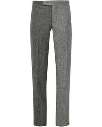 Pantalón de vestir de lana gris de Thom Browne