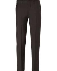 Pantalón de Vestir de Lana Marrón Oscuro de Prada