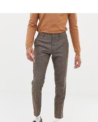 Pantalón de vestir de lana marrón de Heart & Dagger