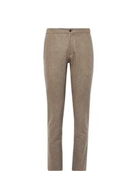 Pantalón de vestir de lana marrón de Incotex