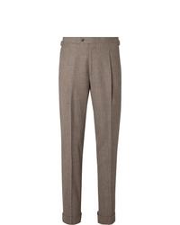 Pantalón de vestir de lana marrón de Saman Amel