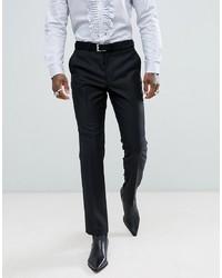 Pantalón de vestir de lana negro de ASOS DESIGN