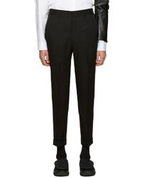 Pantalón de vestir de lana negro de Comme des Garcons