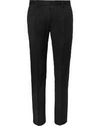 Pantalón de vestir de lana negro de Hugo Boss