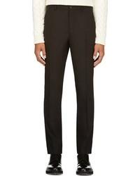 Pantalón de vestir de lana negro de Maison Martin Margiela