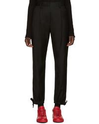 Pantalón de vestir de lana negro de MM6 MAISON MARGIELA