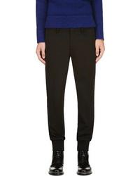 Pantalón de vestir de lana negro de Neil Barrett