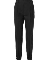 Pantalón de vestir de lana negro de Prada