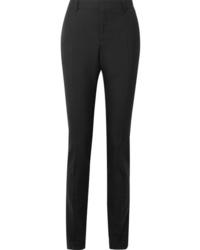 Pantalón de vestir de lana negro de Saint Laurent