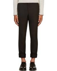 Pantalón de vestir de lana negro de Thom Browne