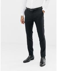 Pantalón de vestir de lana negro de Twisted Tailor