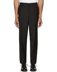 Pantalón de vestir de lana negro de Versace
