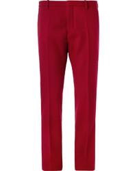 Pantalón de vestir de lana rojo de Jil Sander