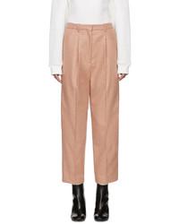 Pantalón de vestir de lana rosado de Acne Studios