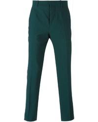 Pantalón de vestir de lana verde oscuro de Marni