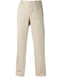 Pantalón de Vestir de Lino Beige