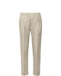 Pantalón de vestir de lino en beige de Rubinacci