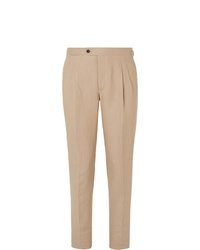 Pantalón de vestir de lino en beige de Thom Sweeney