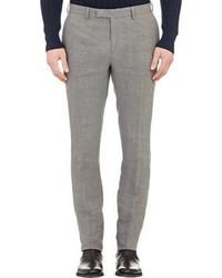 Pantalón de vestir de lino gris