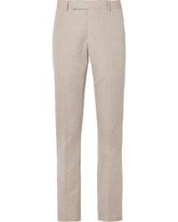 Pantalón de vestir de lino gris de Richard James