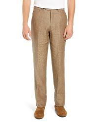 Pantalón de vestir de lino marrón