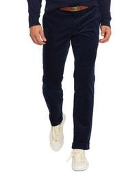 Pantalón de vestir de pana azul marino