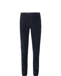 Pantalón de vestir de pana azul marino de Boglioli