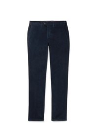 Pantalón de vestir de pana azul marino de Canali