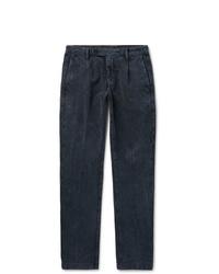 Pantalón de vestir de pana azul marino de Massimo Alba