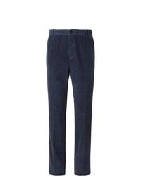 Pantalón de vestir de pana azul marino de Thom Browne