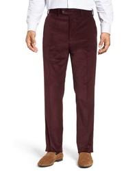 Pantalón de vestir de pana burdeos
