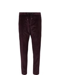 Pantalón de vestir de pana burdeos de Hugo Boss