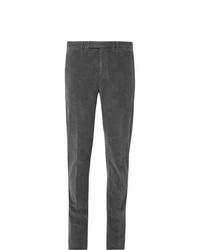 Pantalón de vestir de pana en gris oscuro de Boglioli